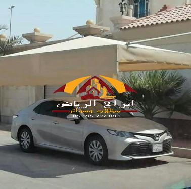 قماش مظلات للسيارات | تفصيل مظلة سيارة قماشية