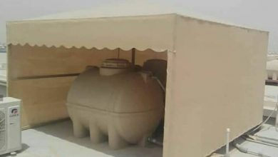 مظلات خزان ماء | تغطية الخزان العلوي